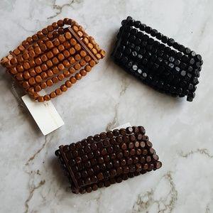 🆕 Beaded Wood Bracelets